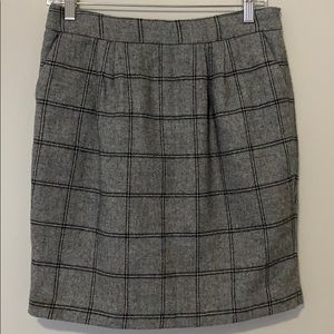Grey Plaid Forever 21 Skirt